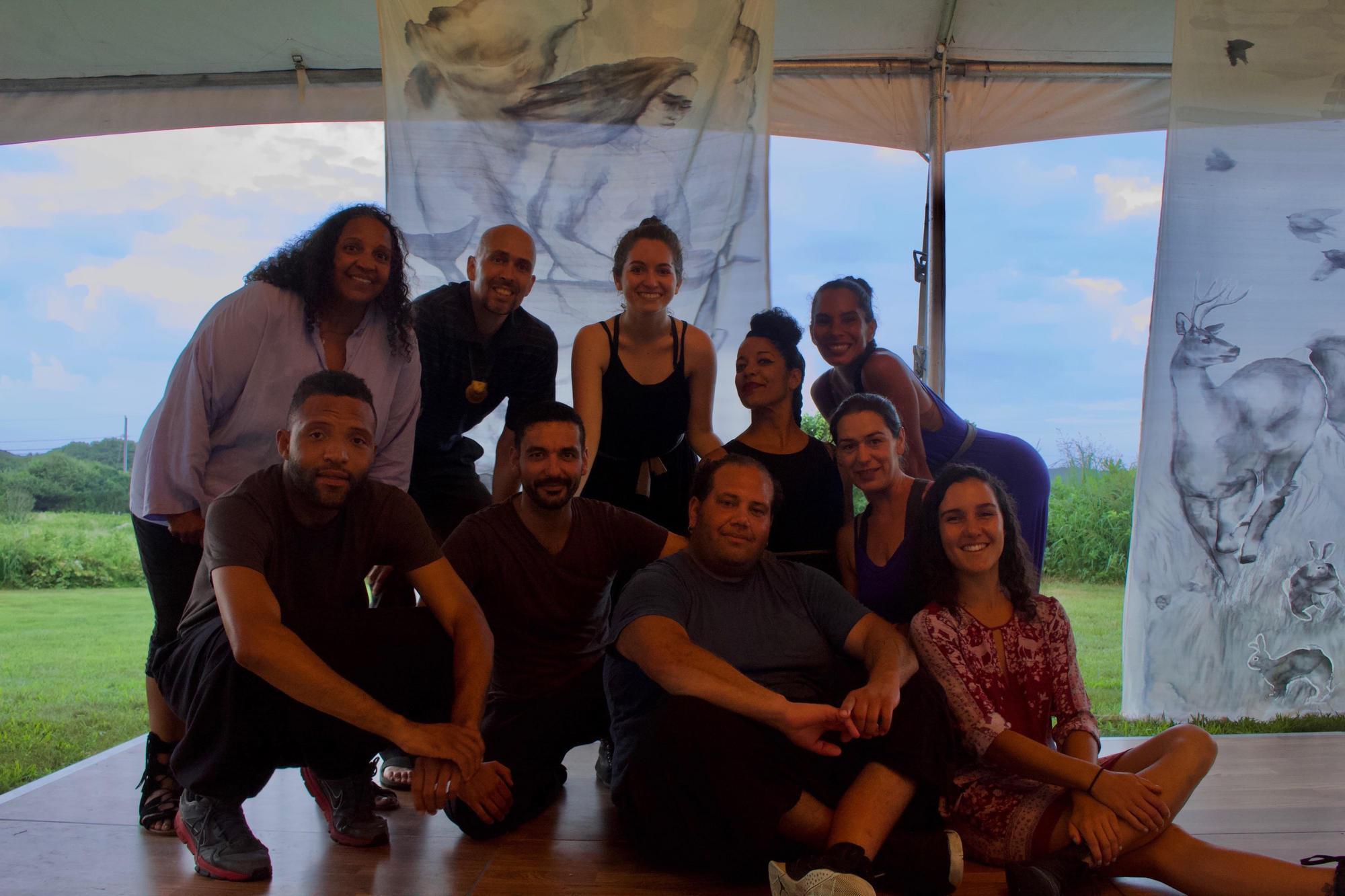 Members of Danza Orgánica and the Aquinnah Wampanoag Tribe