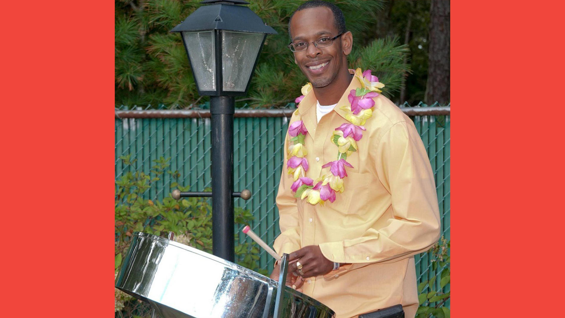 Justin Petty, of Justin Petty Steel Drums; photo courtesy of the artist
